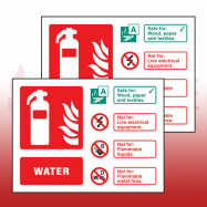 Rigid Plastic Fire Extinguisher I.D Signs