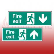 Rigid Plastic Fire Exit Signs