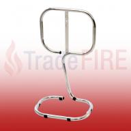 Single Chrome Tubular Fire Extinguisher Stand