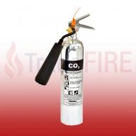 FireShield 2Kg Polished Co2 Fire Extinguisher