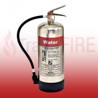 FireShield 9Ltr Stainless Steel Water Fire Extinguisher