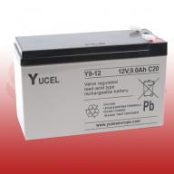 Yucel 12v 9.0Ah Sealed Lead Acid Battery