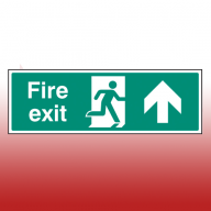 450mm X 150mm Self Adhesive Fire Exit Ahead Sign