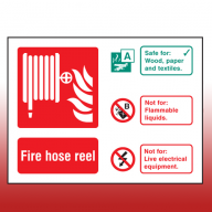 Landscape Rigid Plastic 100mm x 150mm Fire Hose Reel Sign
