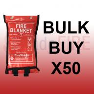 **SPECIAL OFFER** 1.2m x 1.2m Soft Case Fire Blanket (British Standard) X50