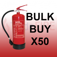 **SPECIAL OFFER** FireShield 6Ltr Water Fire Extinguishers X50