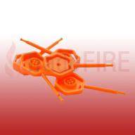 4mm Tamper Pins (Pack of 25) Orange