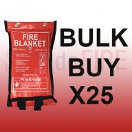 **SPECIAL OFFER** 1.2m x 1.2m Soft Case Fire Blanket (British Standard) X25
