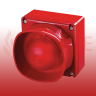 Apollo 55000-298APO XP95/Discovery Addressable Multi-Tone IP66 Open-Area Sounder Beacon (Red)