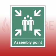 300mm X 250mm Rigid Plastic Assembly Point Sign 1