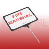 Telescopic Fire Marshal Sign
