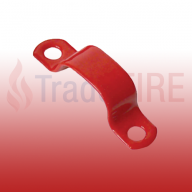 7mm Red Saddle Clip (Pack of 50)