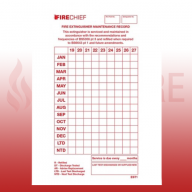 FireChief Tie-On Service Tag Dated 2019 (Pack of 50)