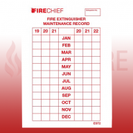 FireChief Tie-On Service Tag Dated 2020 (Pack of 50)